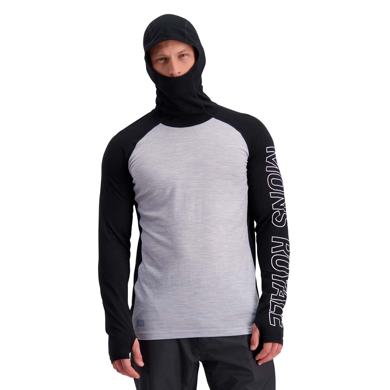 Mons Royale Temple Tech Flex Hoody Black/Grey Marl 2020