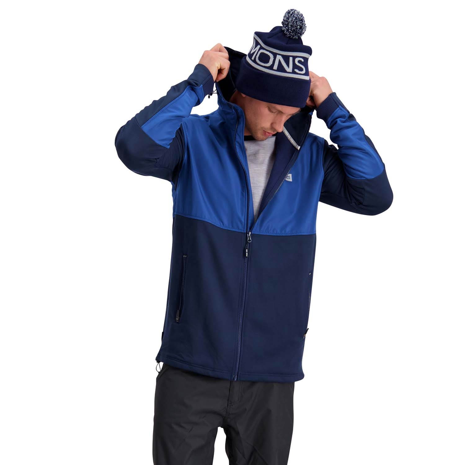 Mons Royale Decade Tech Mid Hoody Navy/Deep Ocean 2020