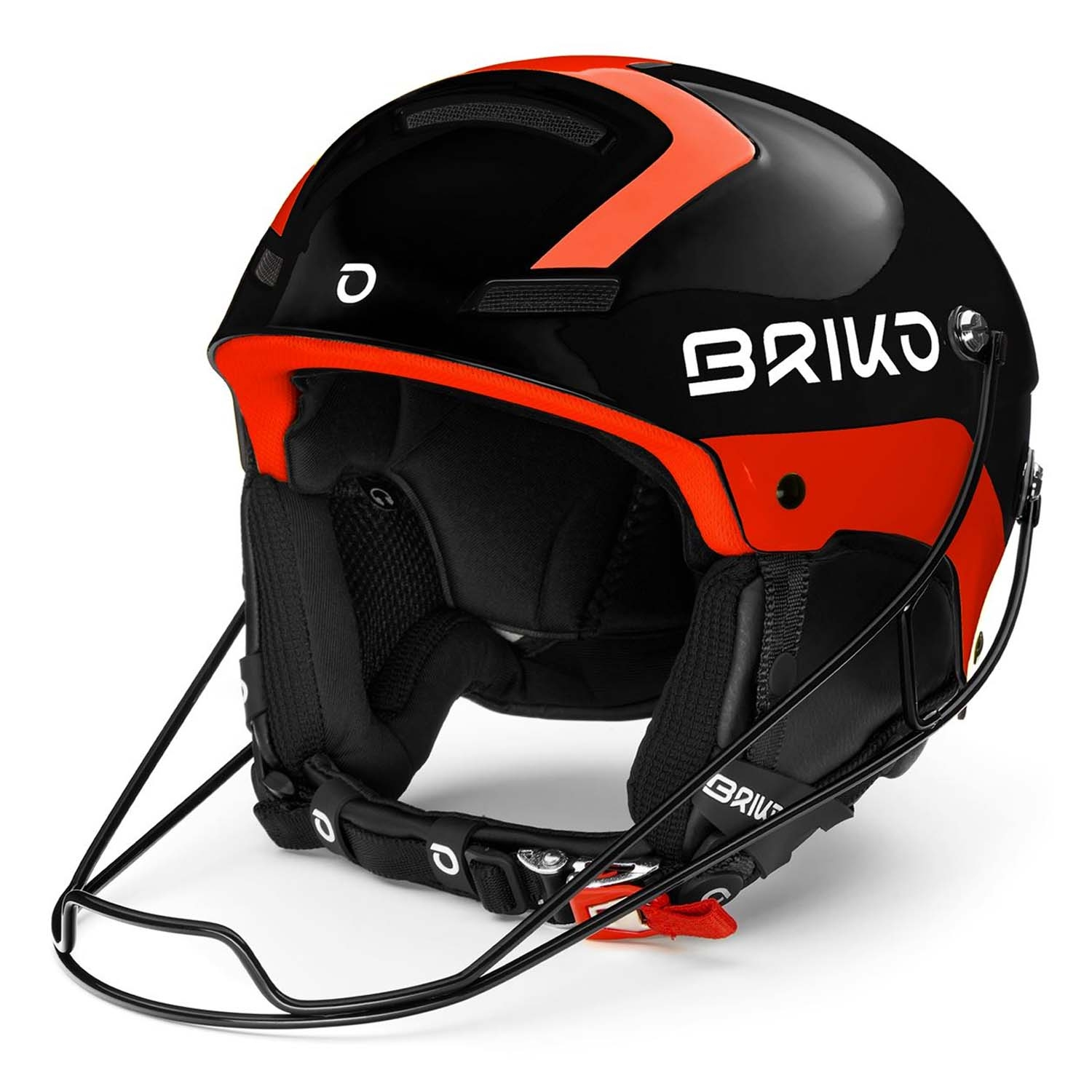 Briko Slalom Helmet Shiny Black/Orange Fluo 2020