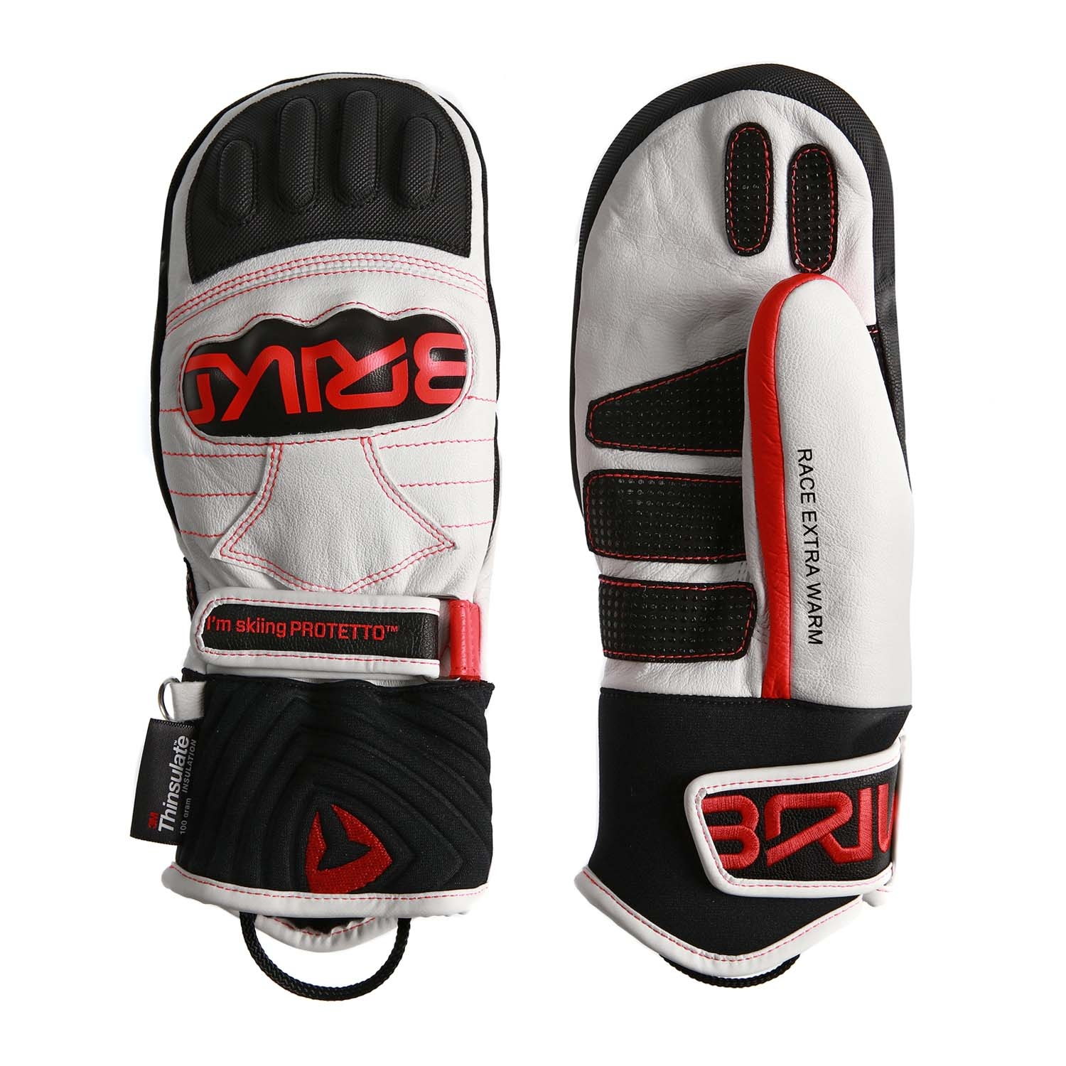 Briko Gara Mitt JR Extra Warm Mitten White/Red/Black 2020