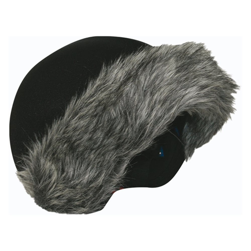 Coolcasc Helmet Cover Grey Fur 2018