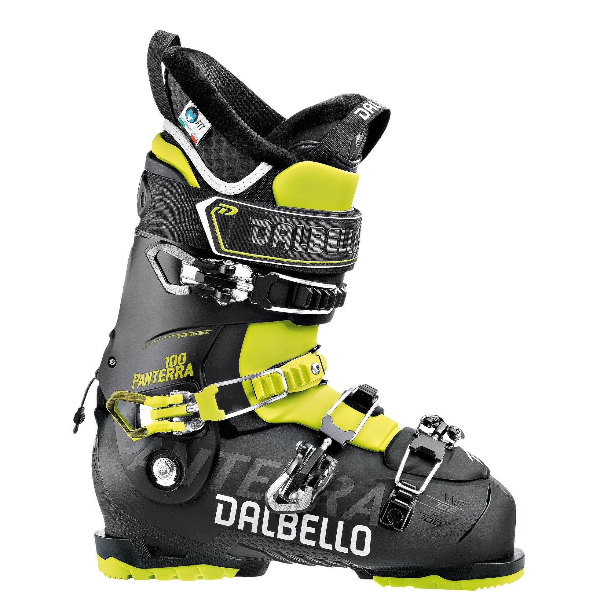 Dalbello Panterra 100 Ski Boot Black/Acid Yellow 2018