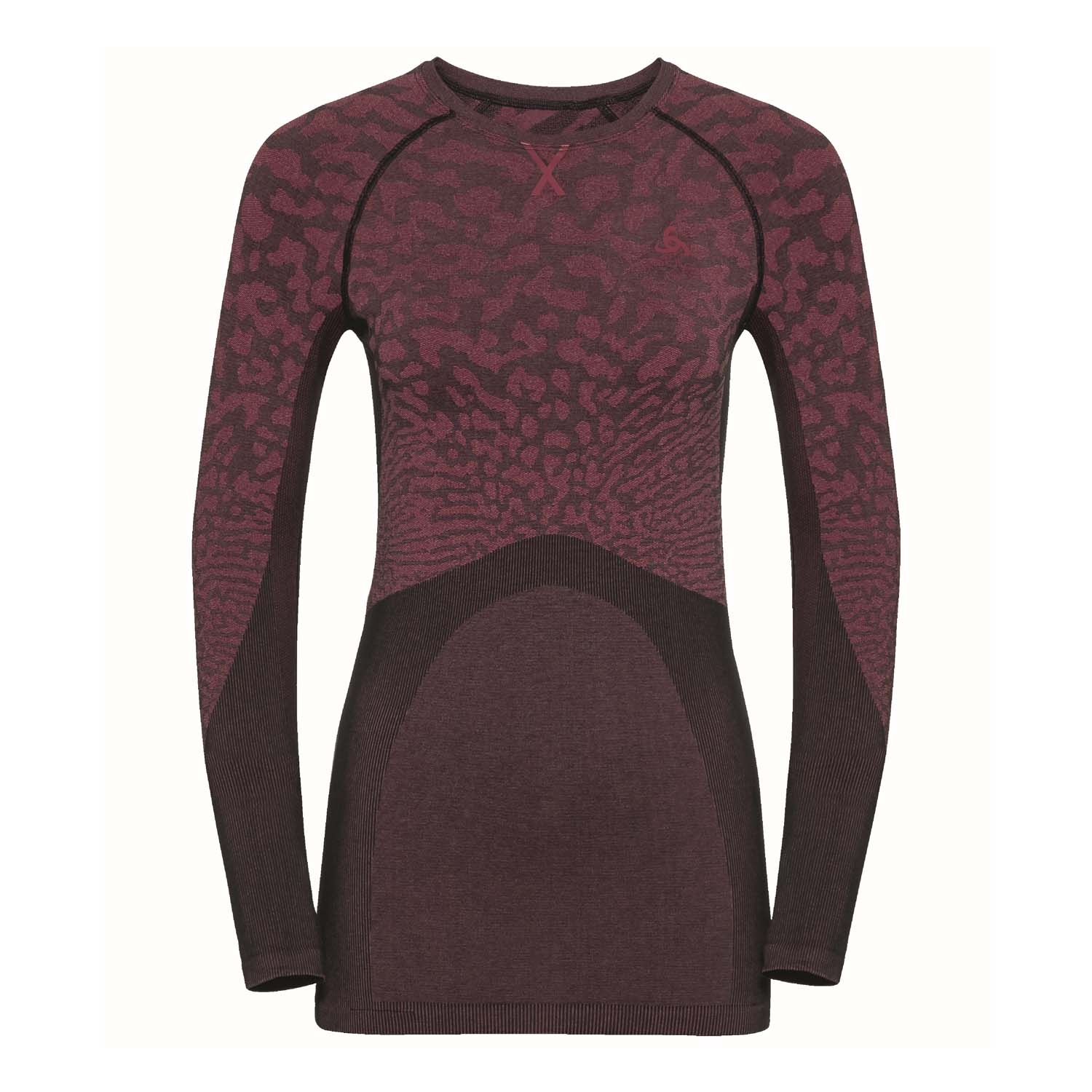 Odlo Performance Blackcomb Long Sleeved Crew Neck Top Black/Cerise 2020