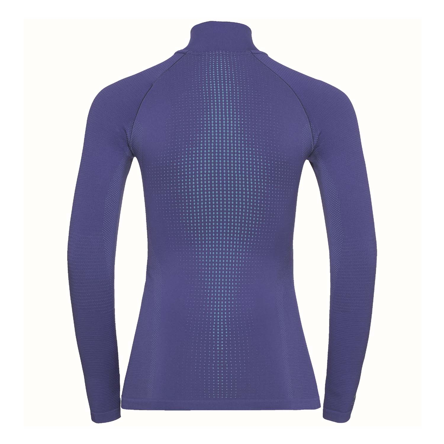 Odlo Performance Warm Long Sleeved Half Zip Turtle Neck Clematis Blue/Niagra 2020