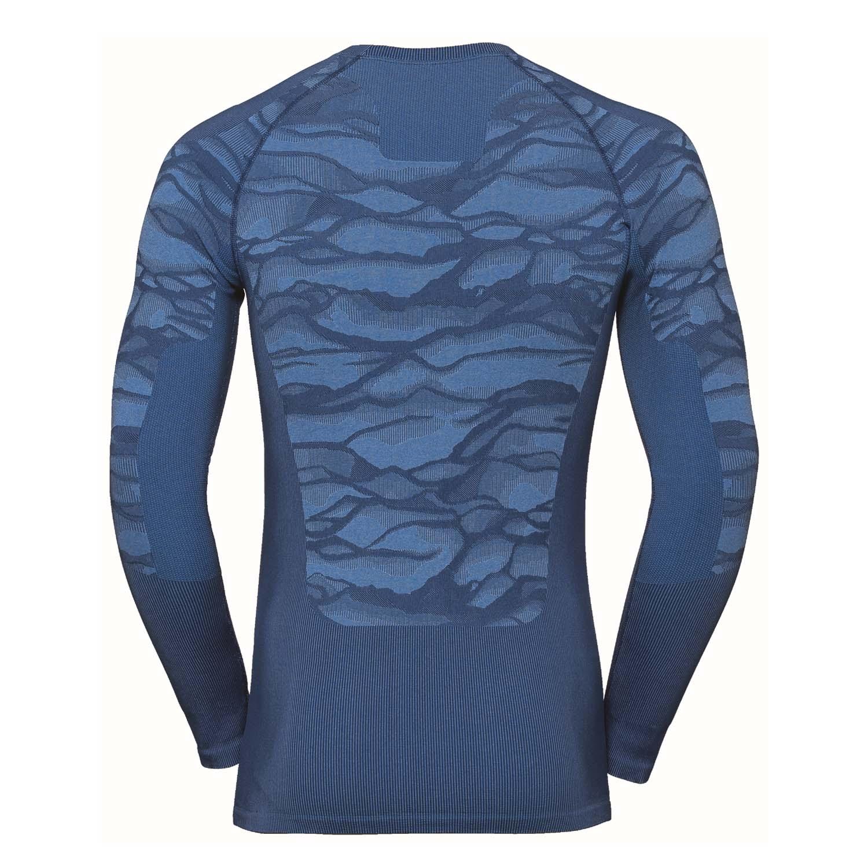 Odlo Performance Blackcomb Long Sleeved Crew Neck Top Estate Blue/Directoire Blue 2020