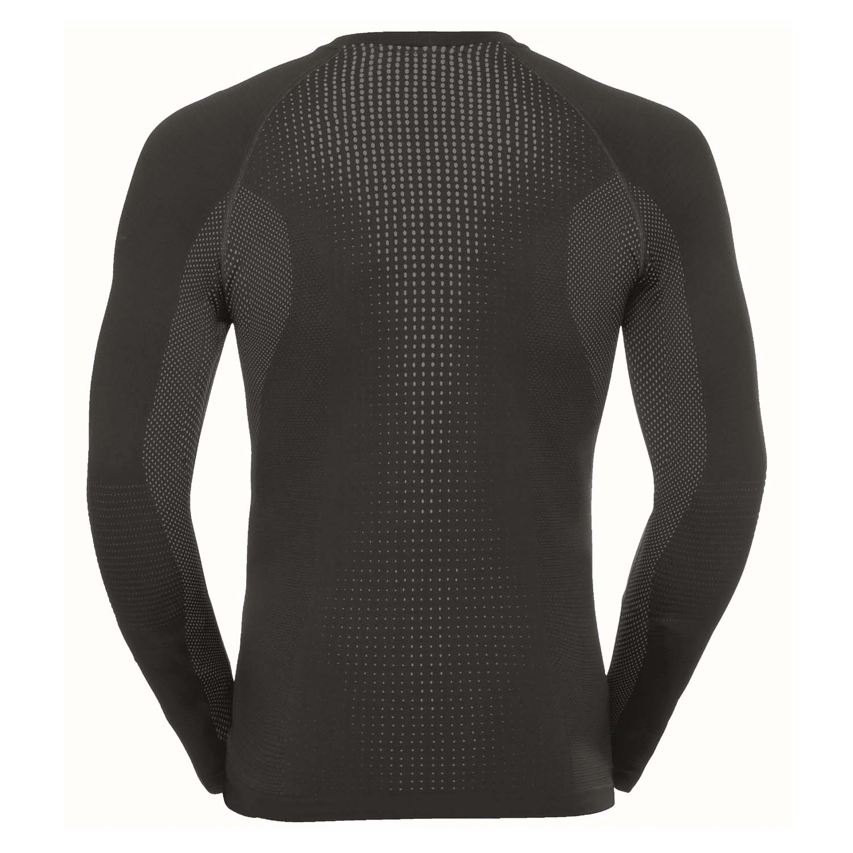 Odlo Performance Warm Long Sleeved Crew Neck Top Black/Odlo Concrete Grey 2020