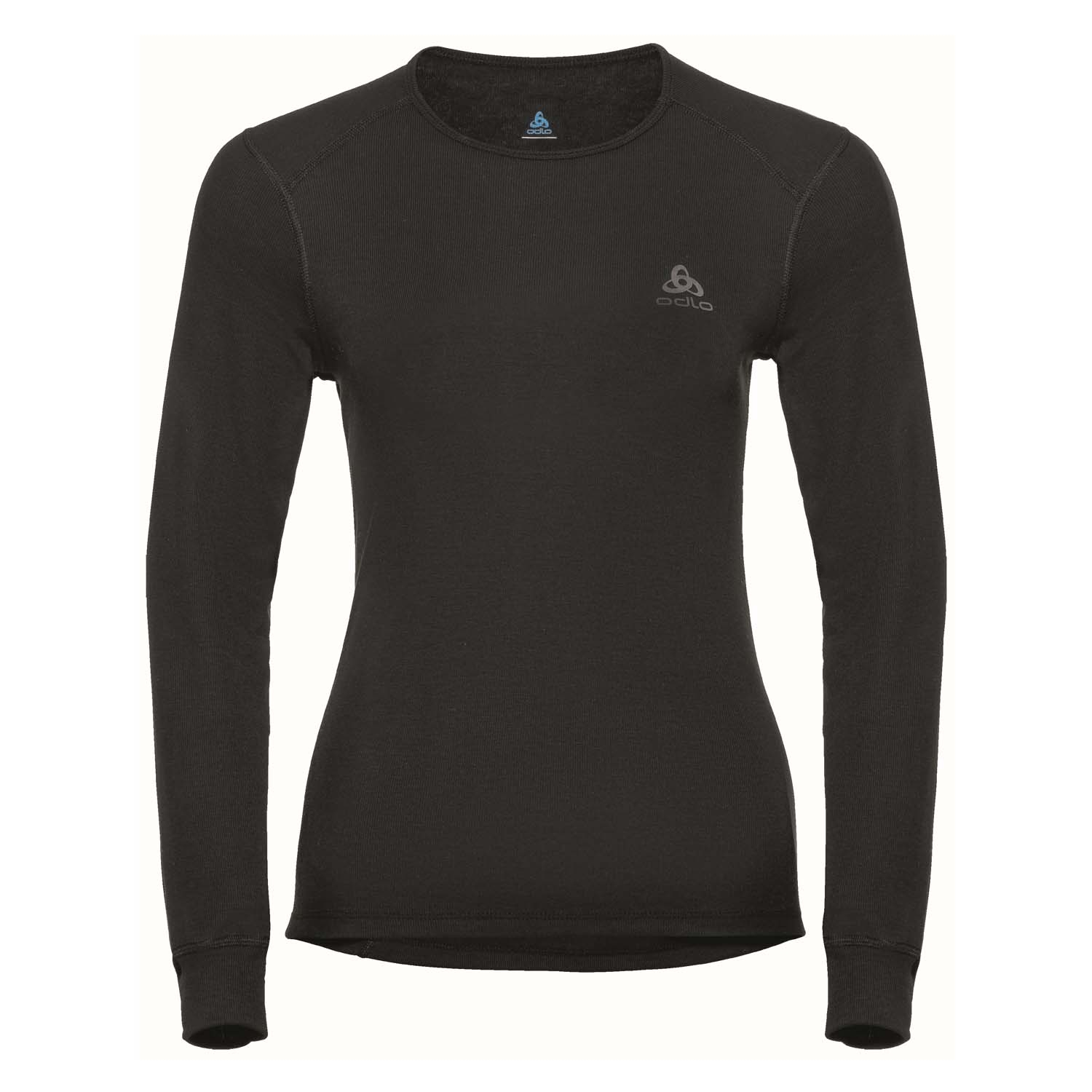 Odlo Womens Active Warm Long Sleeved Crew Neck Top Black 2020