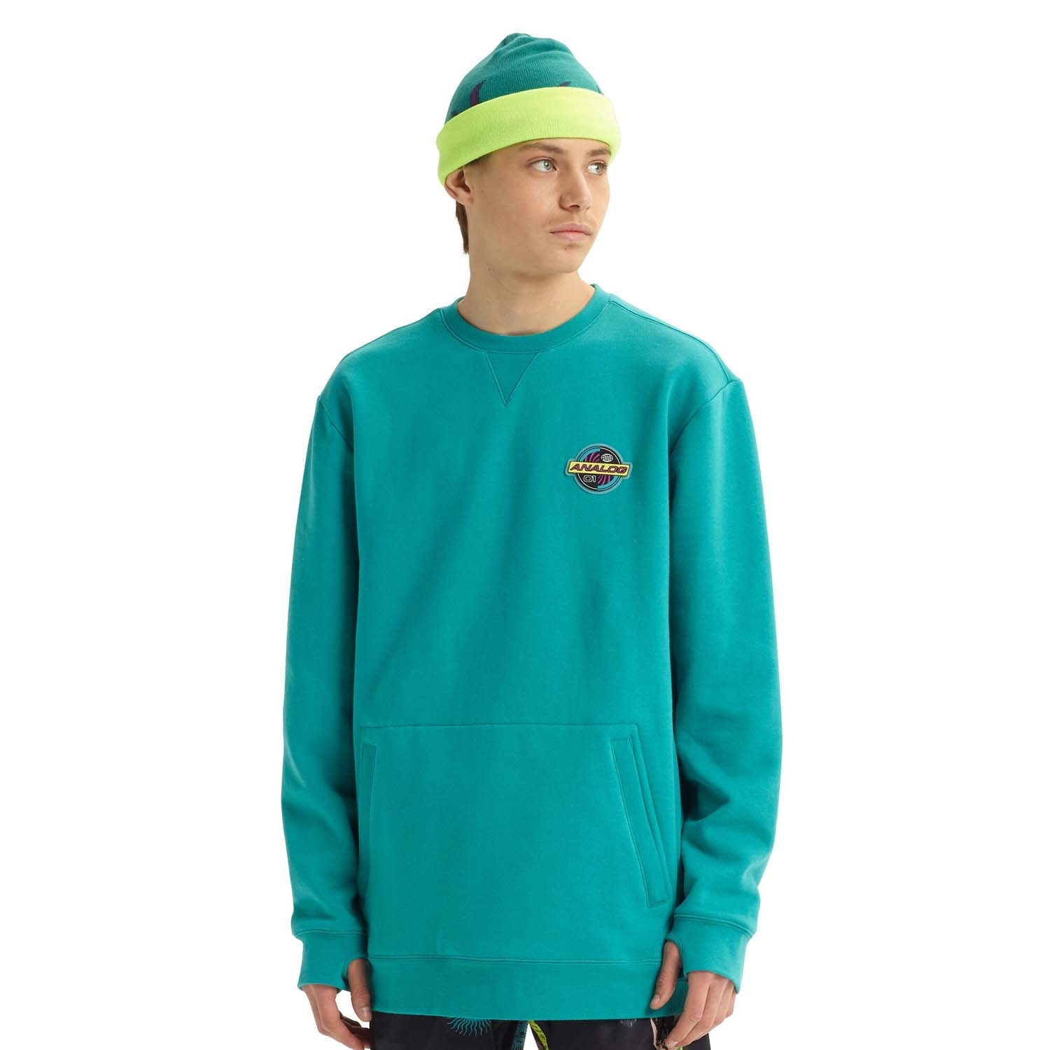 Analog Enclave Crew Sweatshirt Green/Blue Slate 2020
