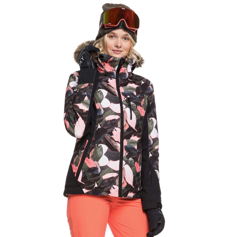 Roxy Jet Ski Premium Jacket Living Coral Plumes 2020