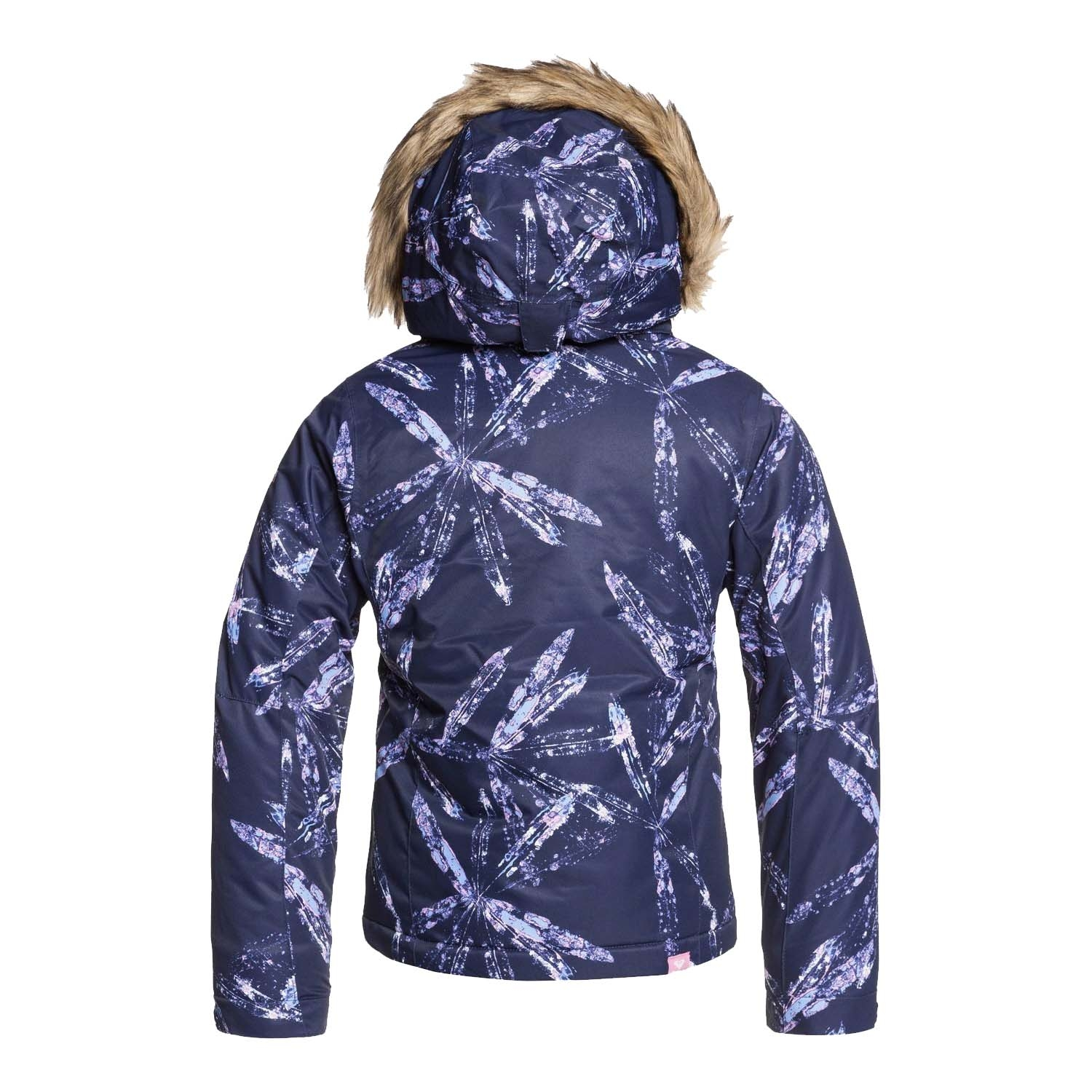 Roxy Jet Ski Girl Jacket Medieval Blue Artic Leaves 2020