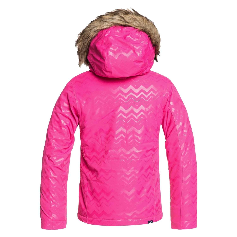 Roxy Jet Ski Solid Girl Jacket Aztec Spirit Embossed Beetroot Pink 2020
