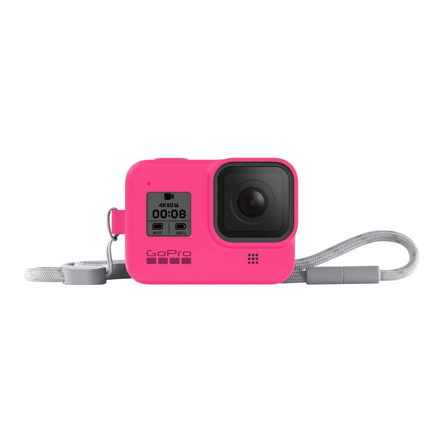 GoPro HERO 8 Sleeve and Lanyard Electric Pink