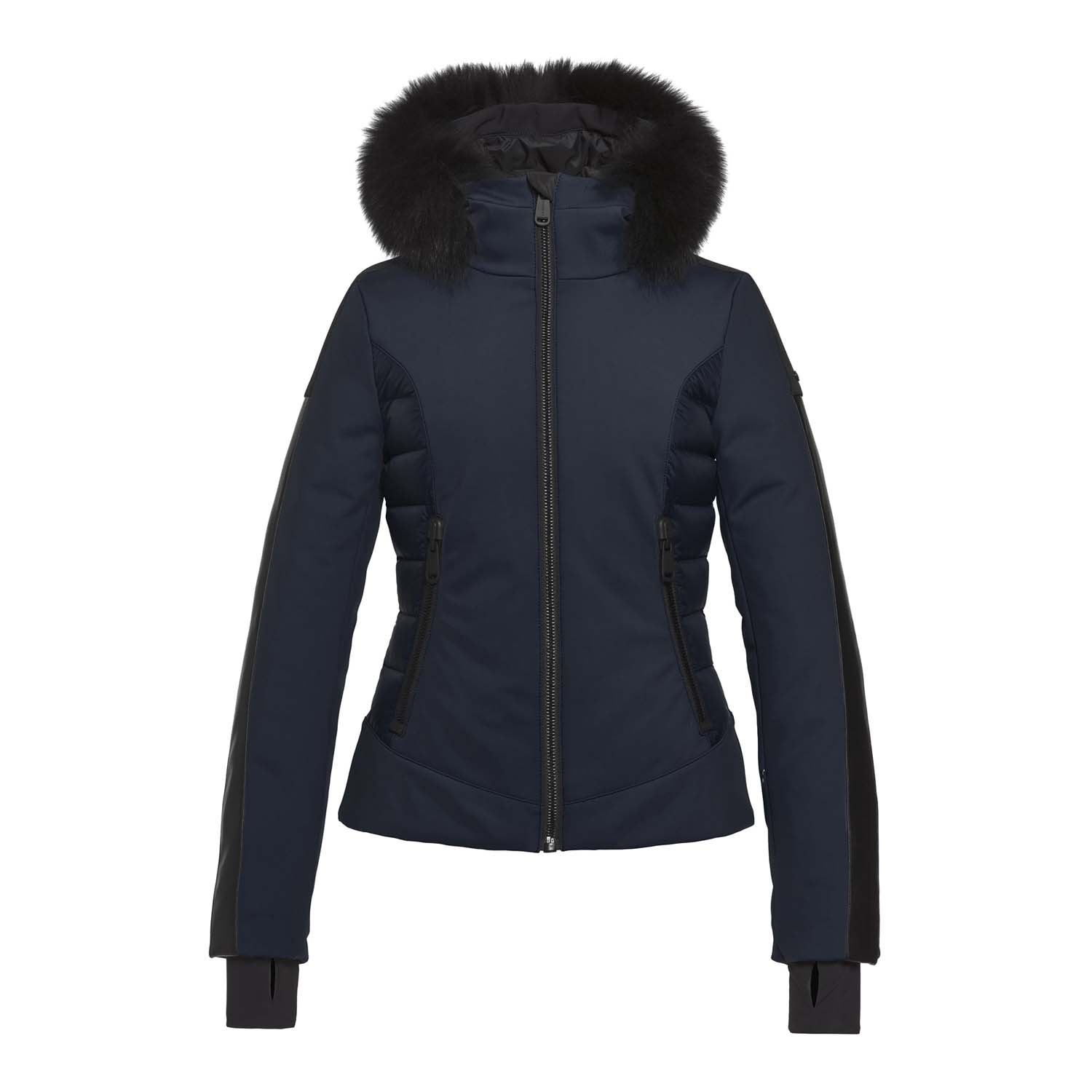Goldbergh Kaja Faux Fur Ski Jacket Dark Navy 2021