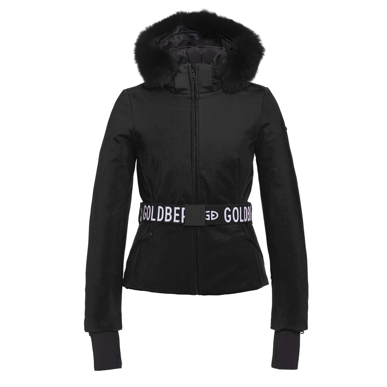 Goldbergh Hida Faux Fur Ski Jacket Black 2021