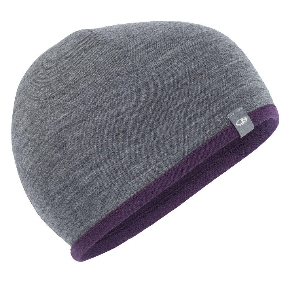 e4ae4a98e3b Icebreaker Pocket Hat Eggplant Gritstone Heather 2018 - Snowtrax