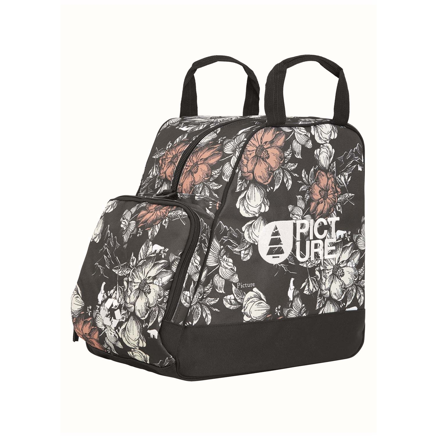 Picture Shoes Bag Peonies Black Print 2021