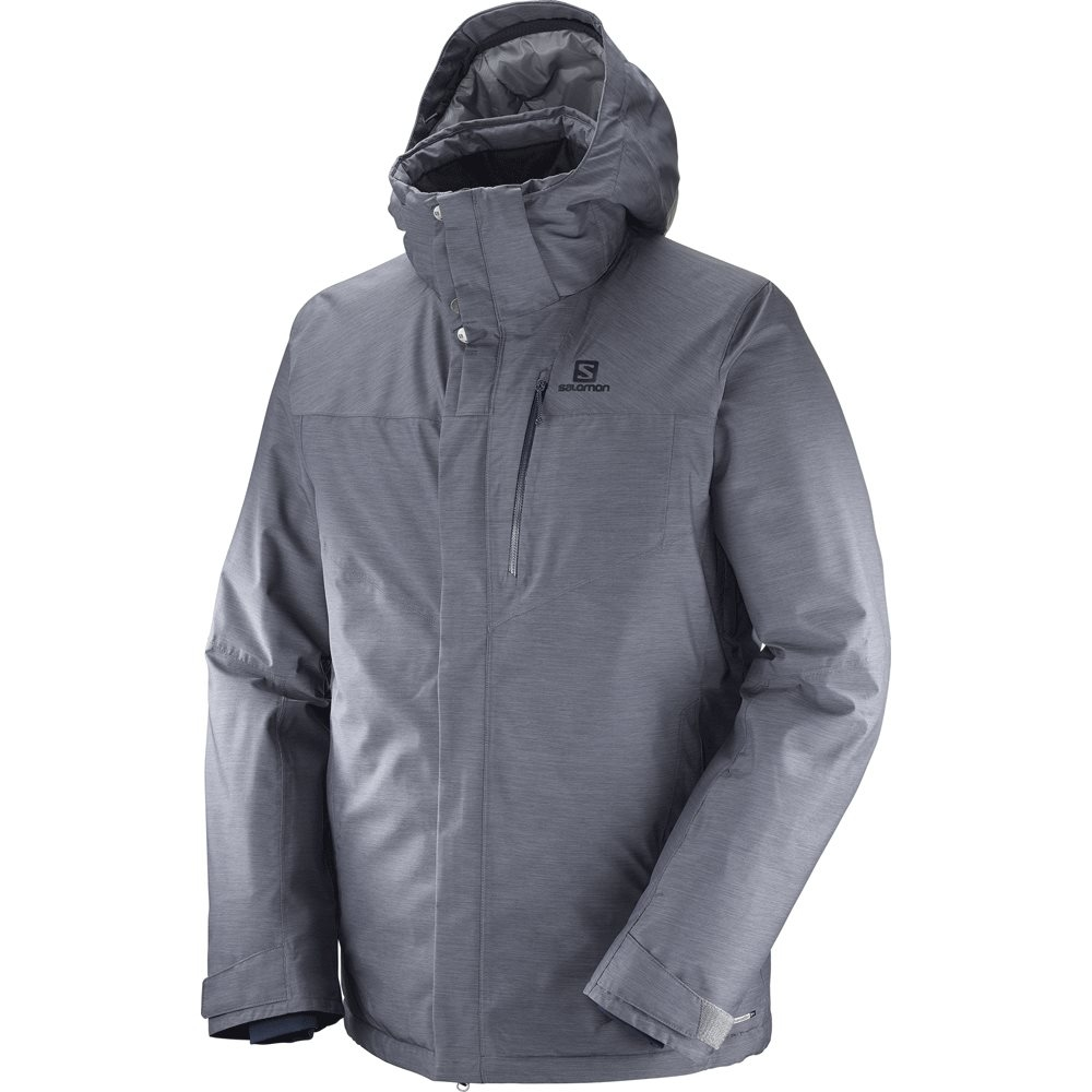 Salomon Fantasy Mens Jacket M Grey Heather 2018