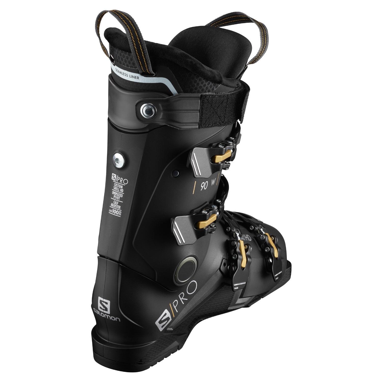 Salomon S Pro 90 W Ski Boots Black/Beluga 2021