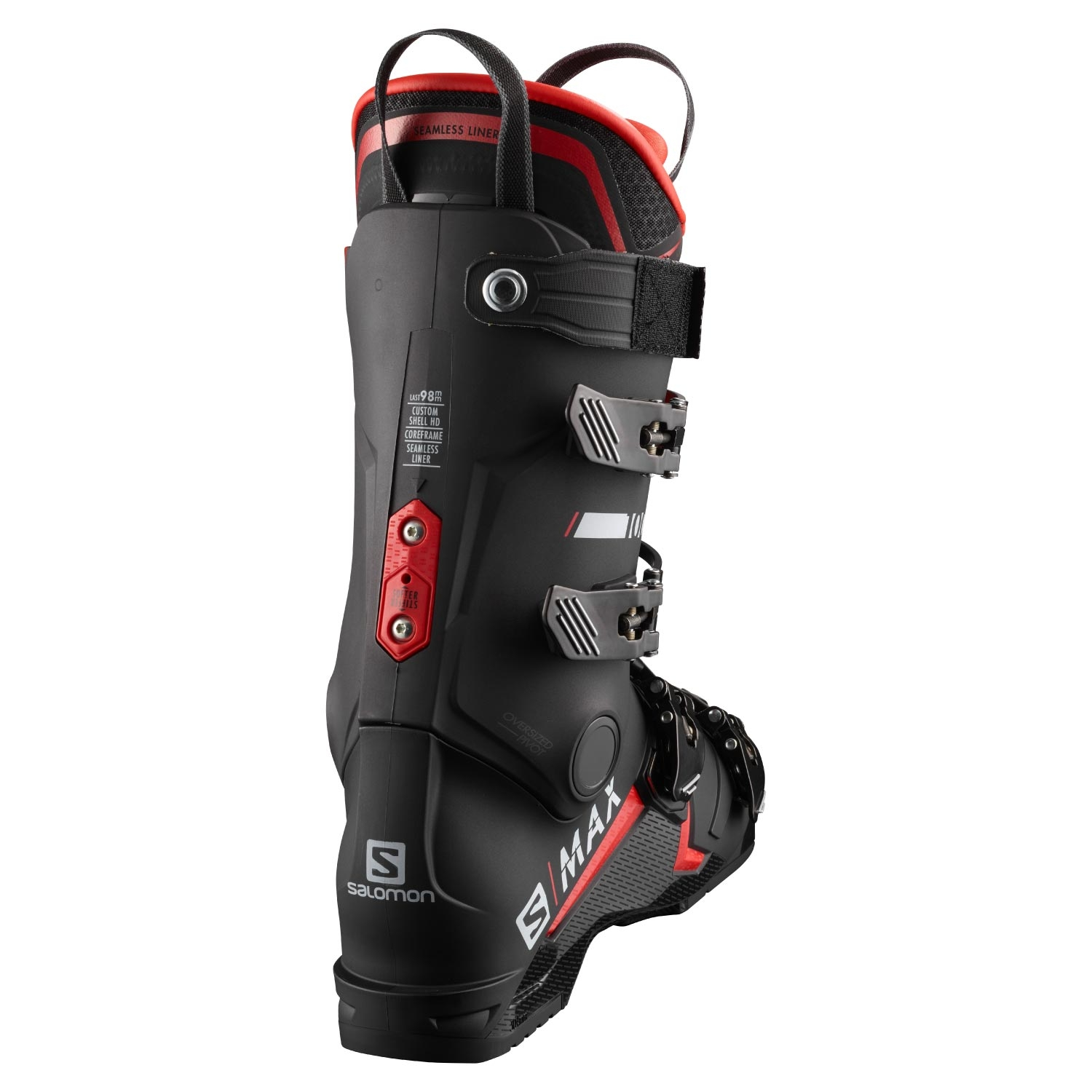 Salomon S Max 100 Ski Boots Black/Red 2021