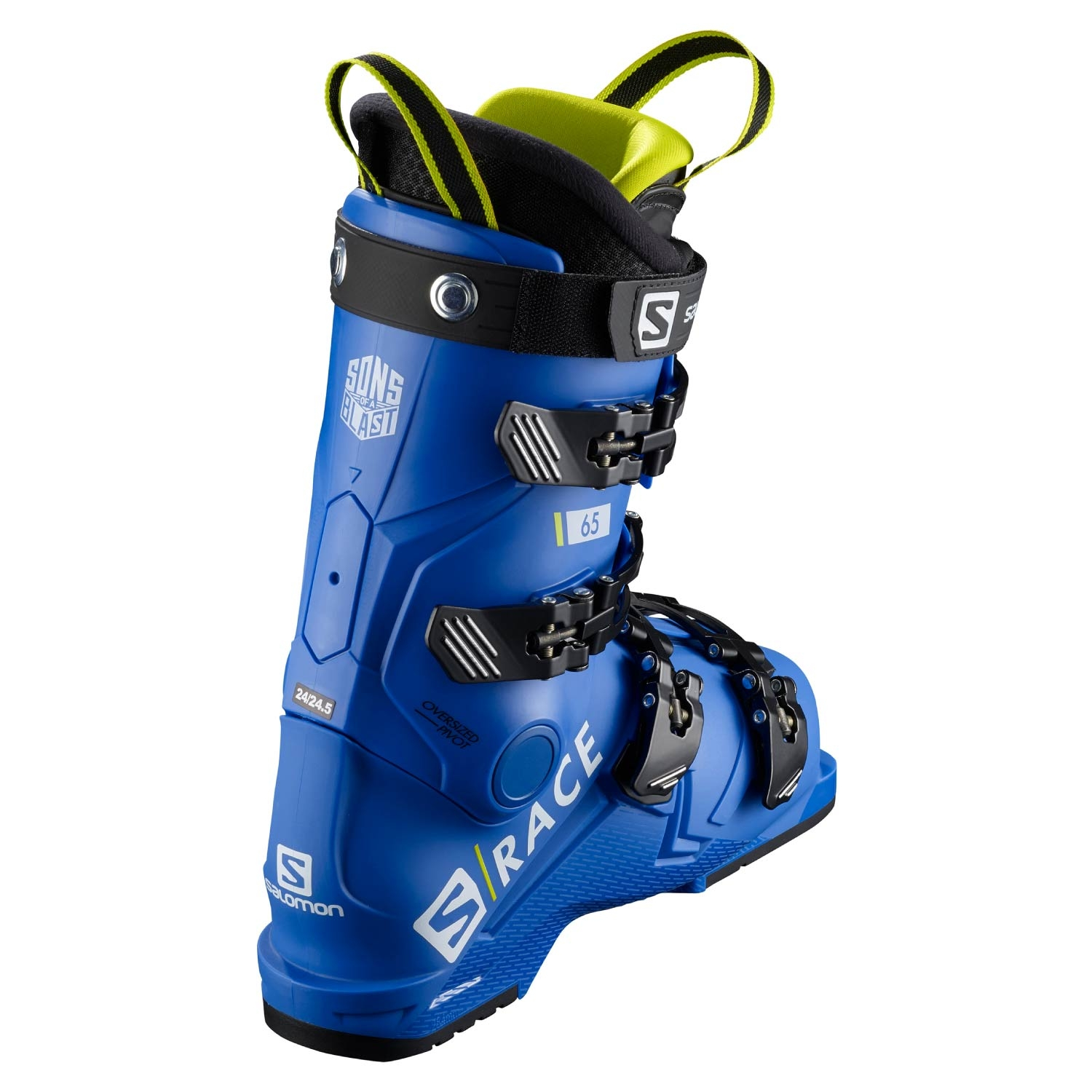 Salomon S Race 65 Ski Boots Race Blue/Acid Green 2021