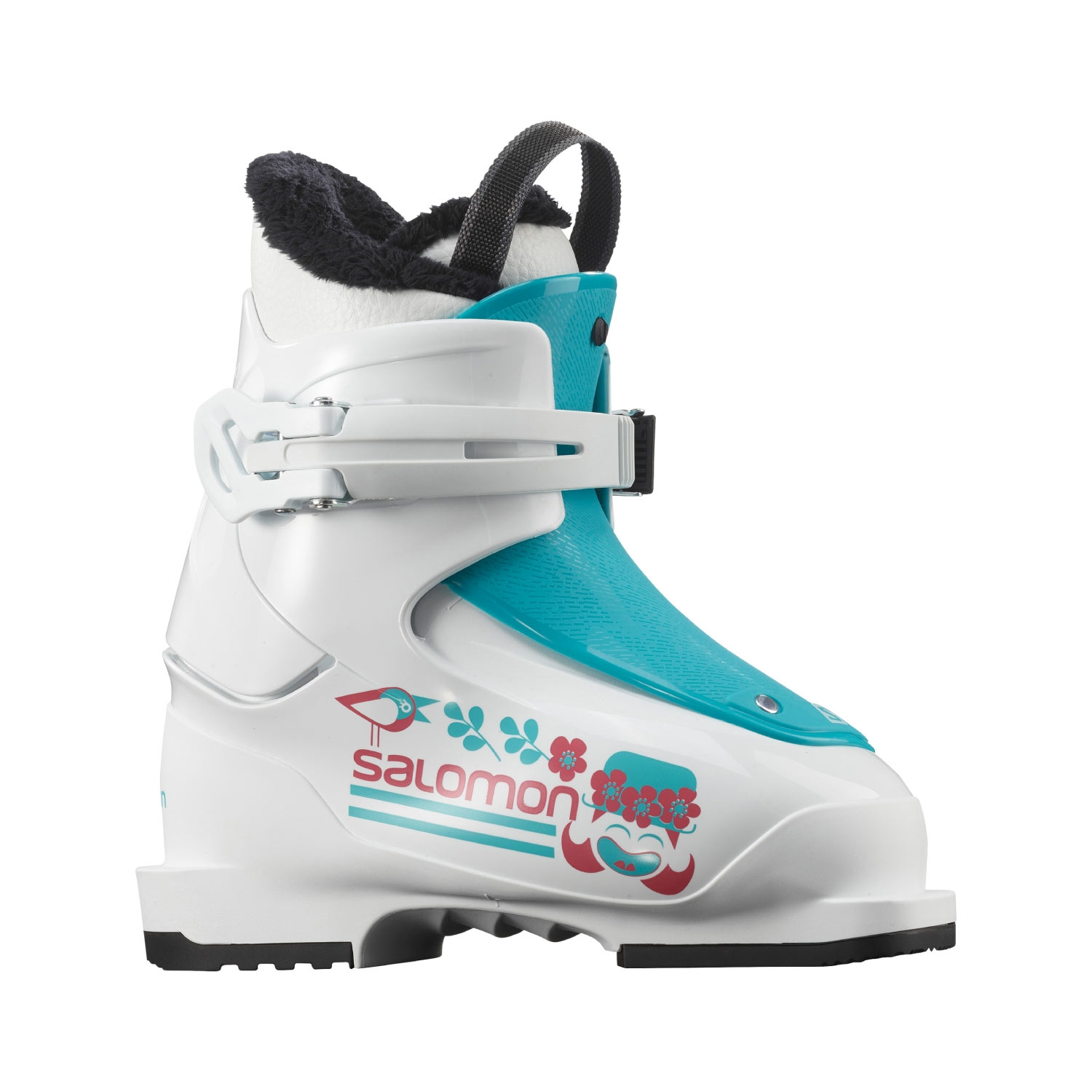 Salomon T1 Girly Ski Boots White/Scuba Blue 2021