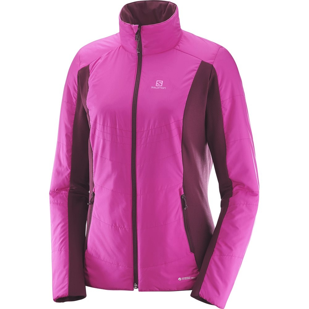 Salomon Drifter Mid Hoodie Womens Rose Violet / Fig 2018