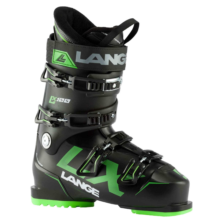 Lange LX 100 Ski Boots Black/Green 2021