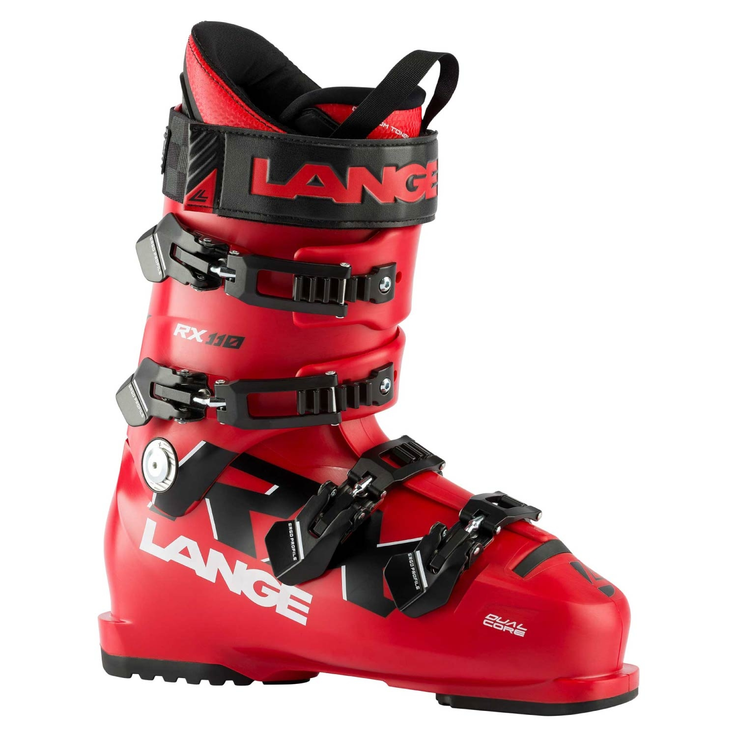 Lange RX 110 Ski Boots Red/Black 2021