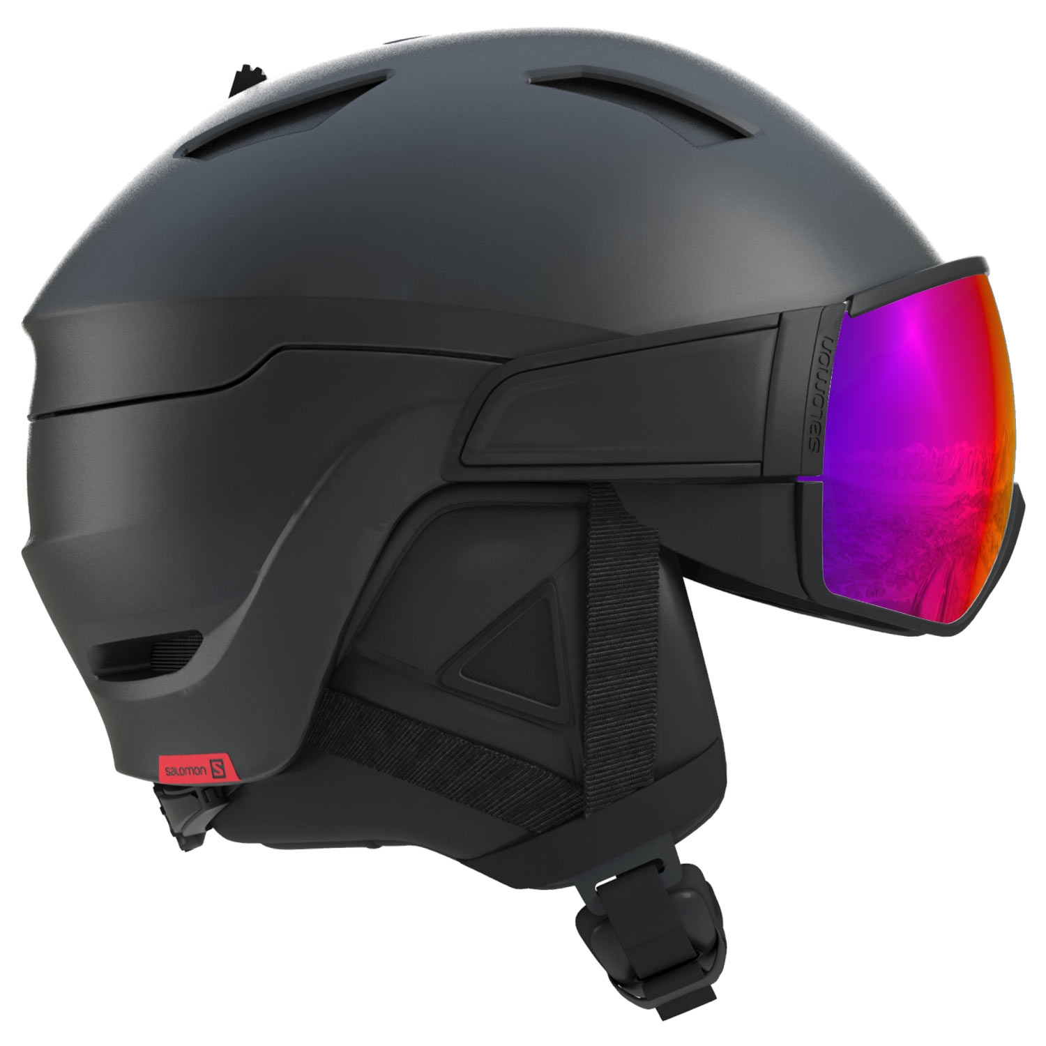 Salomon Driver Helmet Black/Red Accent/Solar 2021