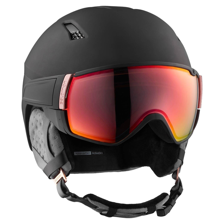 Salomon Mirage CA Photo Visor Helmet Black/Rose Red 2021