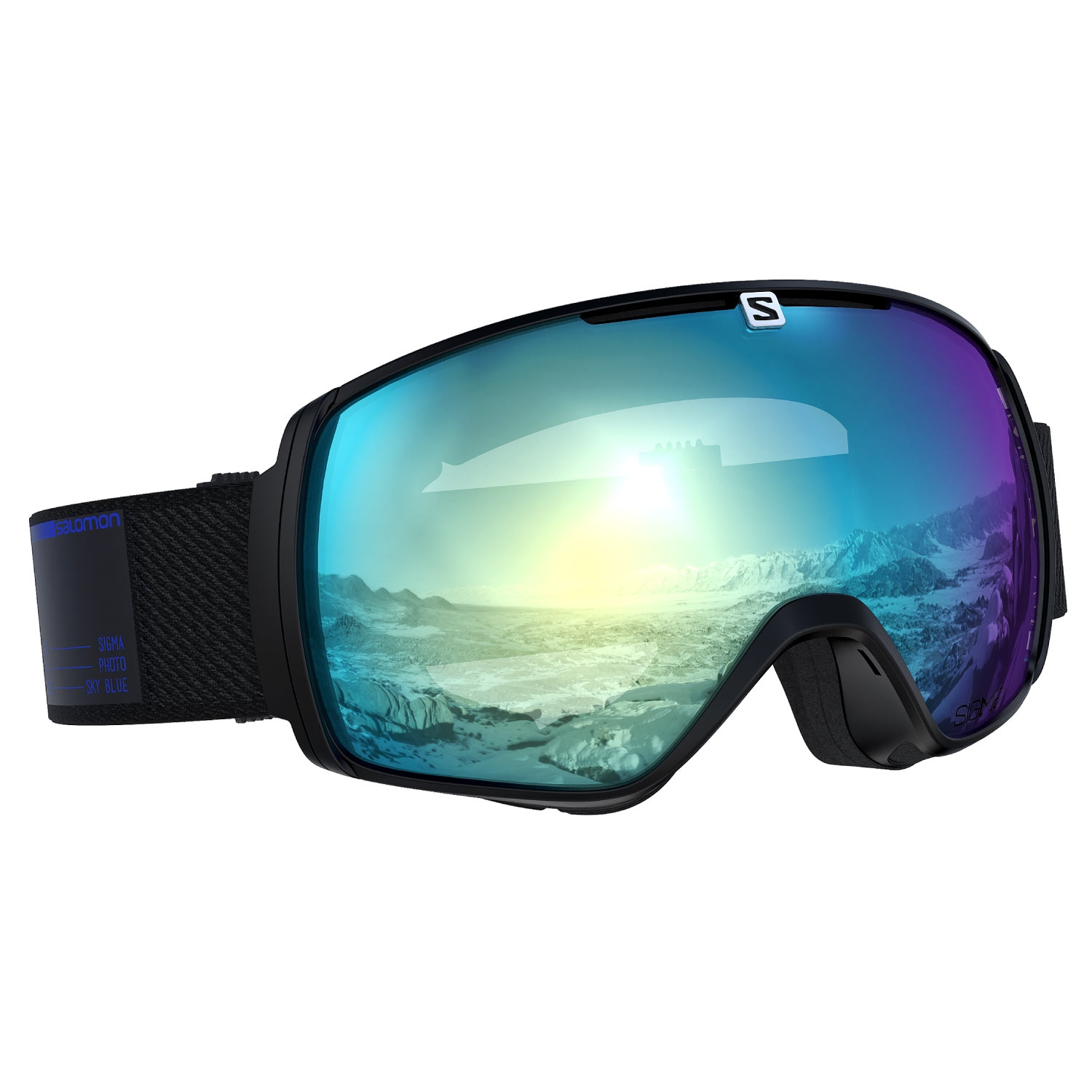 Salomon XT One Photo Sigma Goggles Black/All Weather Sky Blue Lens 2021