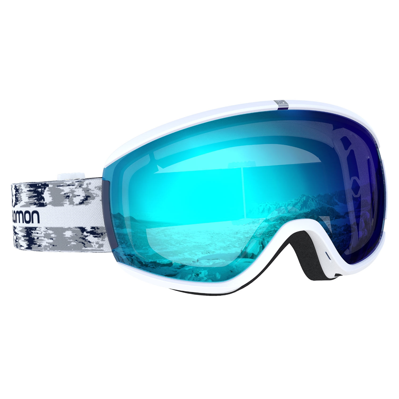 Salomon iVY Goggles White Glitch/Universal Mid Blue Lens 2021