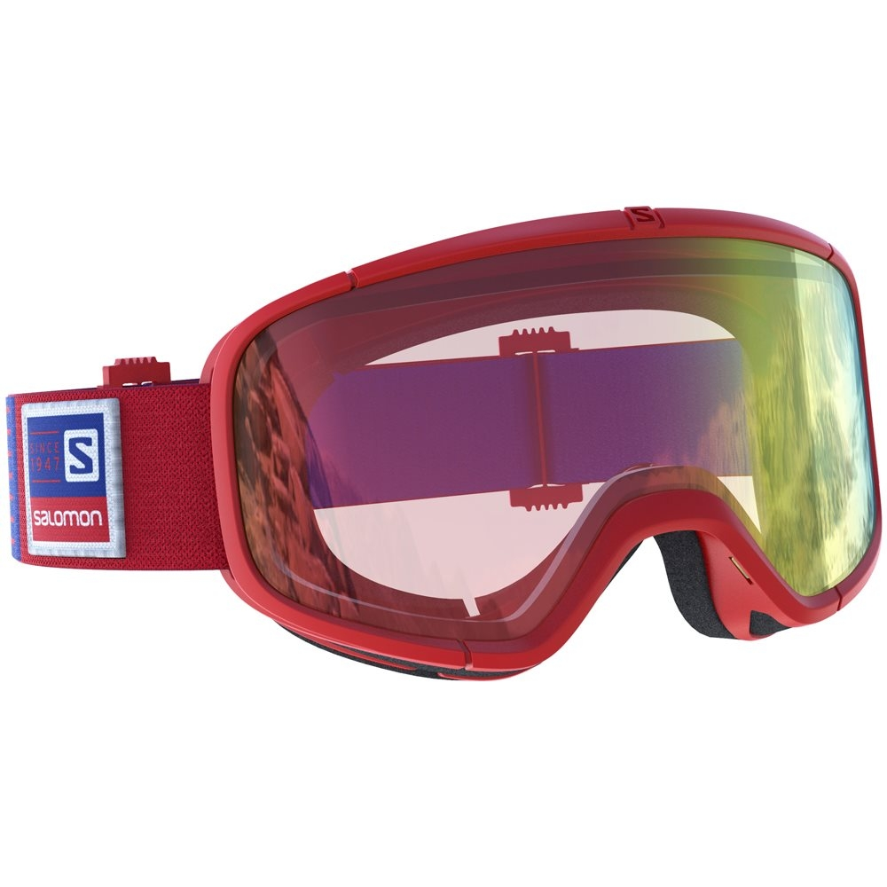 ab4abf1817a0 Salomon Four Seven Red Goggle With All Weather Red Lens - Snowtrax