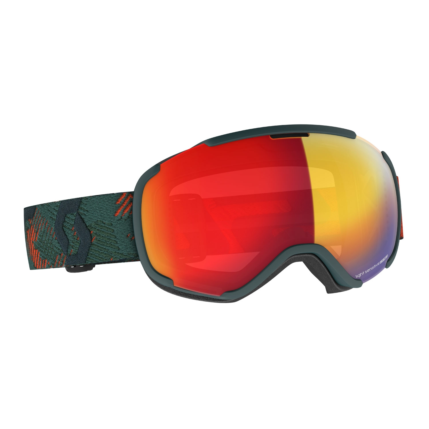 Scott Faze II Goggles LS Sombre Green/Pumpkin Orange 2021
