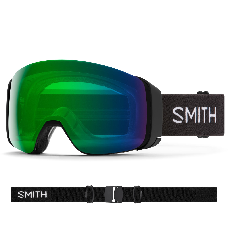 Smith 4D-MAG Goggles Black/Chromapop Everyday Green Mirror 2021