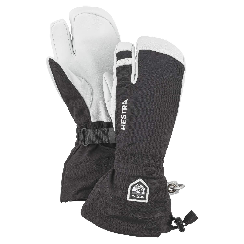 Hestra Army Leather Heli Ski 3-Finger Gloves Black 2021