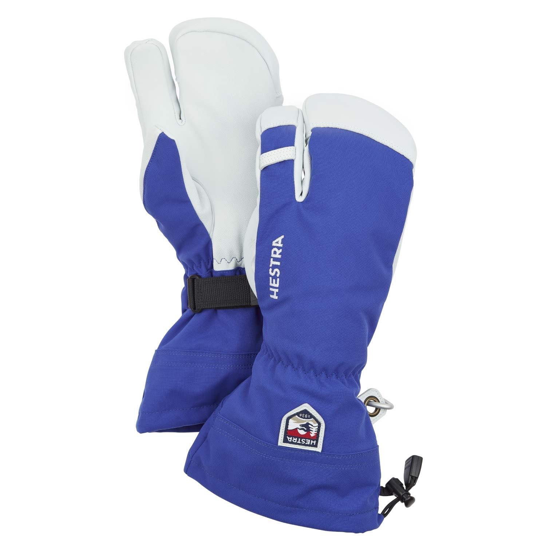 Hestra Army Leather Heli Ski 3-Finger Gloves Blue 2021