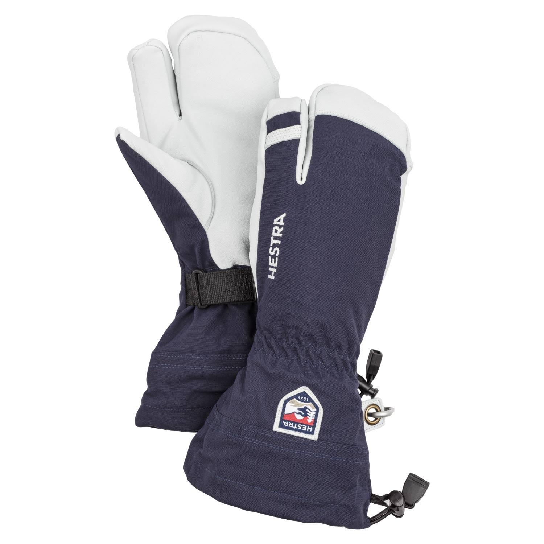 Hestra Army Leather Heli Ski 3-Finger Gloves Navy 2021