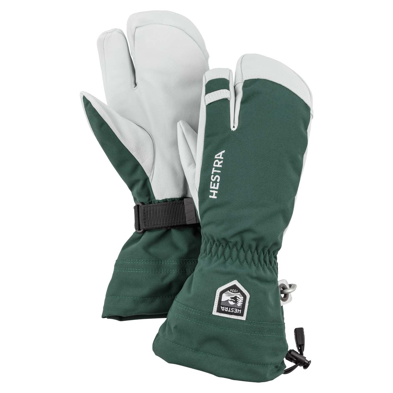 Hestra Army Leather Heli Ski 3-Finger Gloves Green 2021