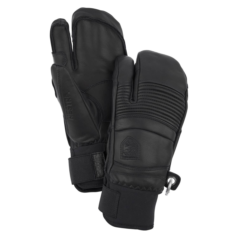 Hestra Leather Fall Line 3-Finger Gloves Black 2021