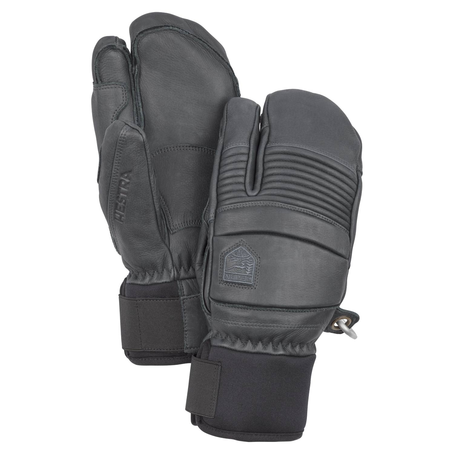 Hestra Leather Fall Line 3-Finger Gloves Grey 2021