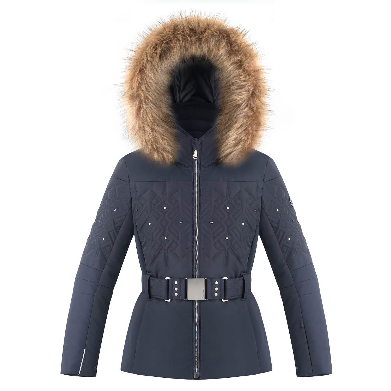 Poivre Blanc Junior Quilted Faux Fur Ski Jacket Fancy Blue 2021