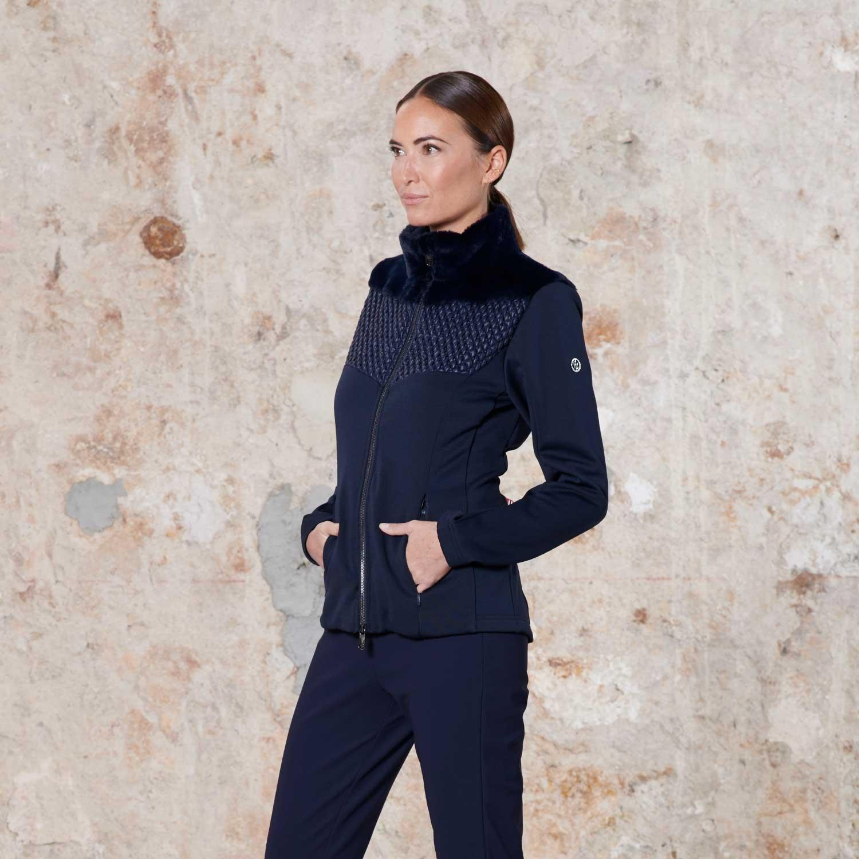 Poivre Blanc Hybrid Stretch Fleece Gothic Blue 2021