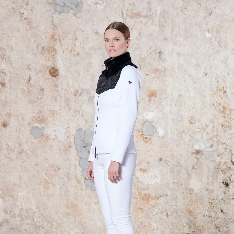 Poivre Blanc Hybrid Stretch Fleece Multi White 2021