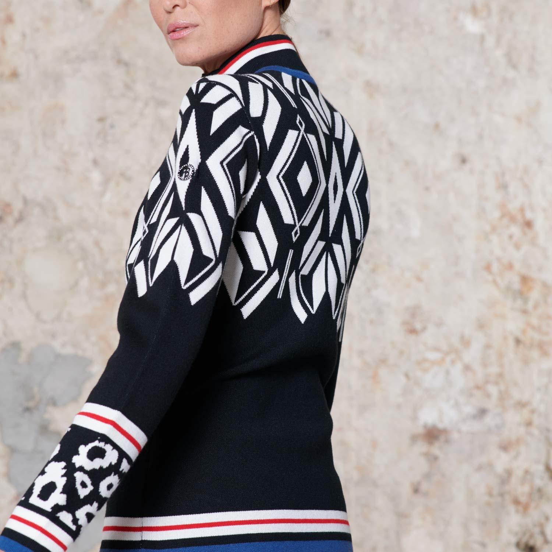 Poivre Blanc Knit Jacket Multi Black 2021