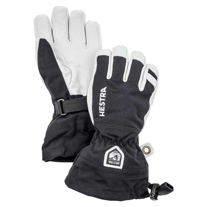 Hestra Army Leather Heli Ski Junior Gloves Black 2021