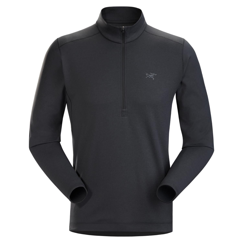 Arcteryx Motus AR Zip Neck Sweatshirt Black Heather 2021