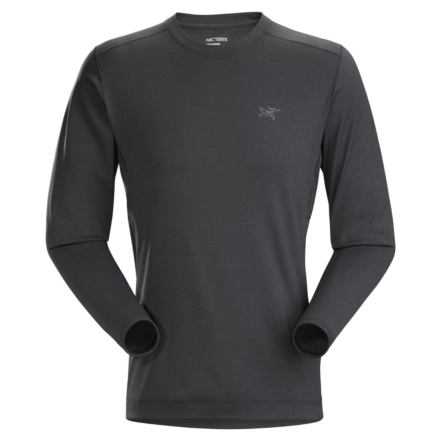 Arcteryx Motus AR Crew Long Sleeve T-Shirt Black Heather 2021