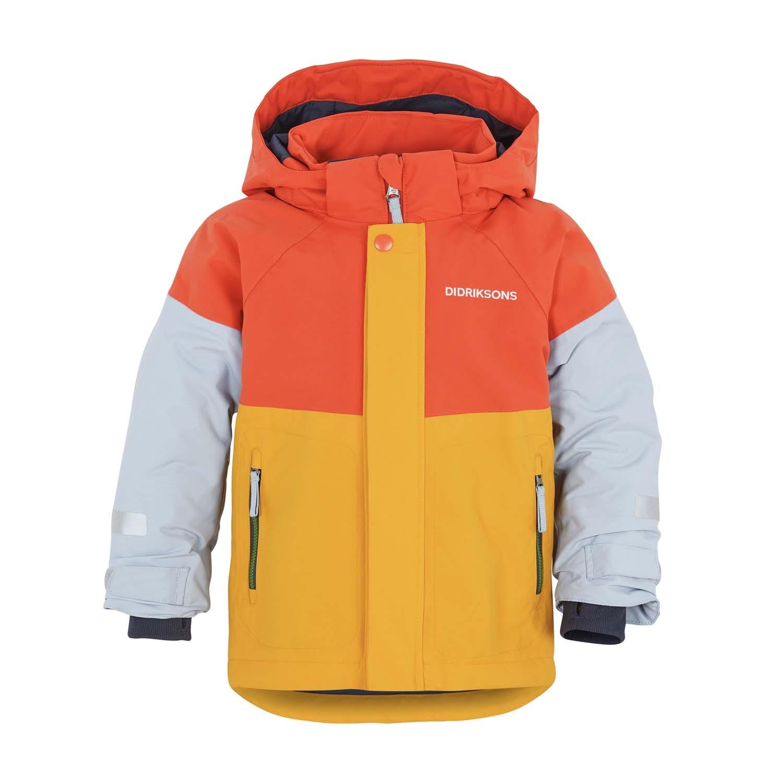 Didriksons Lun Ski Jacket Orange/Yellow 2021