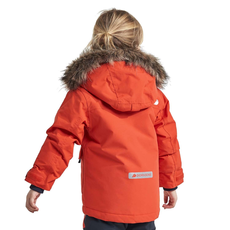 Didriksons Polarbjornen Parka Ski Jacket Orange 2021